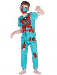 Zombie doktor kostume til drenge