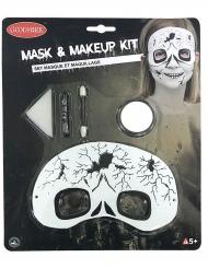 Skelet sminke sæt med maske