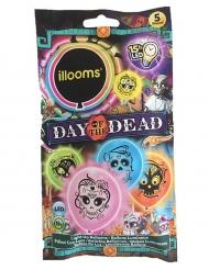 Dia de los Muertos balloner med LED - 5 stk