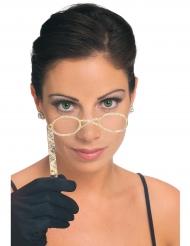 Klassiske briller på pind til voksne