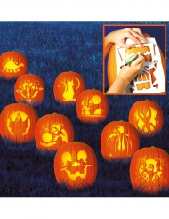 10 skabeloner til dit Halloween græskar 27x19 cm