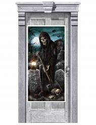 Dørdekoration - Halloween kirkegård 165x85 cm