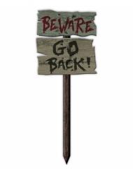 Beware go back skilt 54x20 cm
