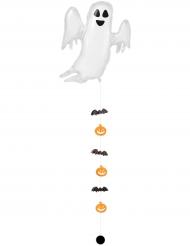 Spøgelse Alu Ballon med hængende flagermus 68x264 cm