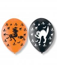 Halloween balloner med hekse og katte