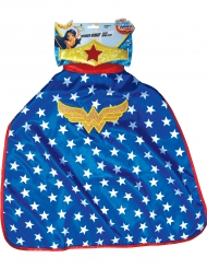 Wonder Woman™ kappe og krone - Super Hero Girls™