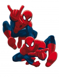2 vægdekorationer i pap med Spiderman™ 30 cm