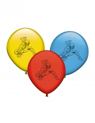 8 stk multifarvet latexballoner med Spiderman™