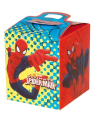 Gaveæske i pap med Spiderman™ 9.5x9.5x11 cm