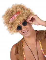 Blond hippie paryk til voksne