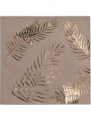 16 Papirservietter gylden 33 x 33 cm