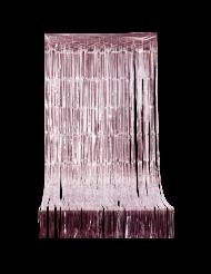Glitre forhæng med rosa guld frynser 2,44 m x 92 cm