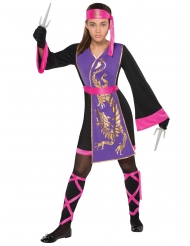 Lyserødt og lilla ninjakostume til piger