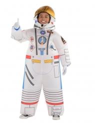 Oppusteligt astronaut kostume til børn