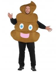 Emoji lort - kostume til voksne