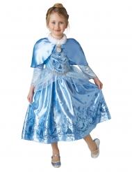 Prinsesse askepot vinterkjole med kappe til piger - Aksepot™