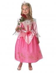 Smuk Tornerose™ kostume med krone pige