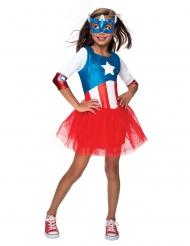 Captain America™ kostume med tylskørt til piger