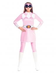 Lyserød Power Rangers™ kostume til kvinder - Mighty Morphin