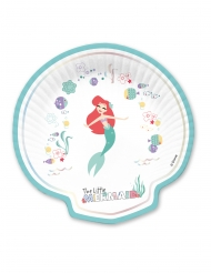 4 stk muslingeformet paptallerkener med Ariel™ 24x24 cm