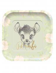 4 firkantede luksus tallerkner Bambi™ 24 x 24 cm