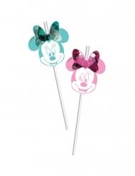 6 Fleksible sugerør Minnie™pop comic premium