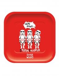 4 stk premium firkantet paptallerkener med Star Wars™ 24x24 cm