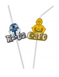 6 stk premium sugerør med medaljoner - Star Wars™