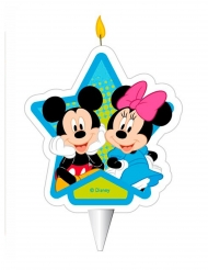 Fødselsdag stearinlys Mickey & Minnie™ 7,5 cm
