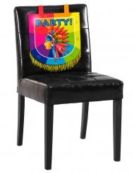 Indianer dekoration til stol i karton 38 x 34 cm