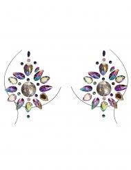 Smykker til bryst og krop flerfarvede motiver til voksne