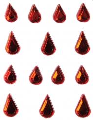 Smykker til ansigt og krop røde