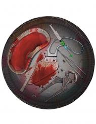 Paptallerkener med blodigt værktøj 23 cm
