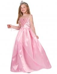 Lyserødt prinsessekostume til piger