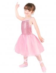 Lyserødt danserinde kostume til piger
