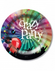6 paptallerkner Crazy Party 23 Cm