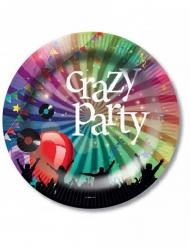 6 paptallerkner Crazy Party 23 Cm