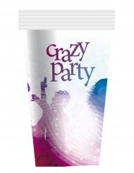 6 Krus Crazy Party hvid 25 cl.