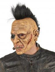 Latexmaske punk med hanekam voksen