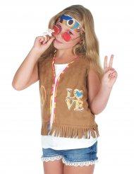 Hippievest til flower power piger