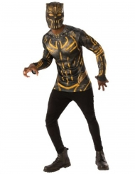 Black Panther™ Erik Killmonger™ Tshirt og maske voksen
