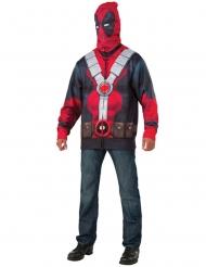 Jakke med hætte Deadpool™ voksen