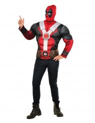 Deadpool™ tshirt med muskler og elefanthue voksen