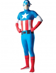 Captain America™ second skind kostume voksen