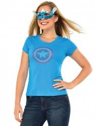 T-shirt og maske med Captain America™ til voksne