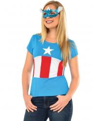 T-shirt og maske med American Dream Captain America™ til voksne