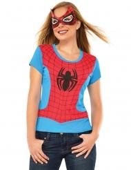 Spider-Girl™ thsirt og maske kvinde