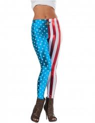 Metalliske Captain America™ leggings til kvinder