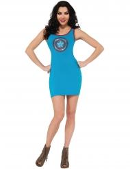 Captain America™ kjole i blå til kvinder