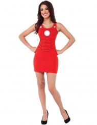 Iron Man™ kostume rød kjole kvinde